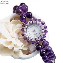 2019 Selling Eana New Automatic Quartz Aa Amethyst Bracelet Watch Fashion Decoration Watches Wholesale Issuing