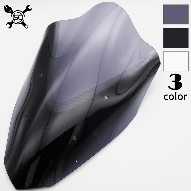 Free Shiping Motorcycle High Quality Windshield WindScreen Visor Viser Fit For YAMAHA NMAX 155 NMAX155 Double Bubble
