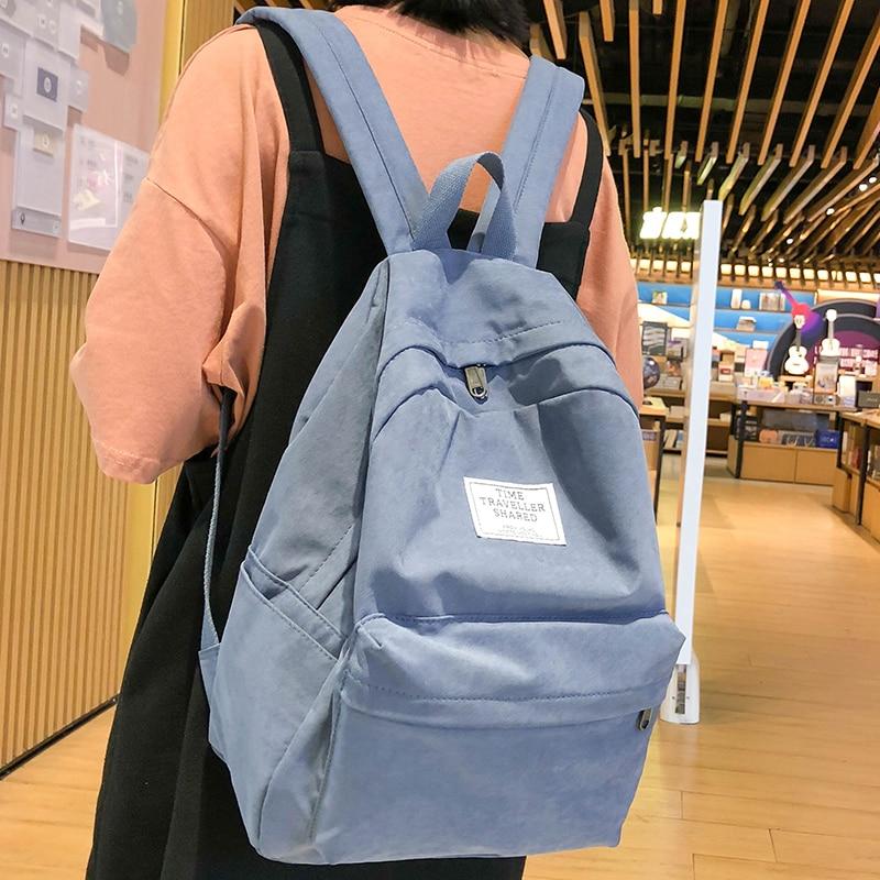 Fashion Cotton Fabric Backpack Cute Student Women School Bags Girls Kawaii Backpack Female Luxury Teenage Bag Lady Book 2019 New