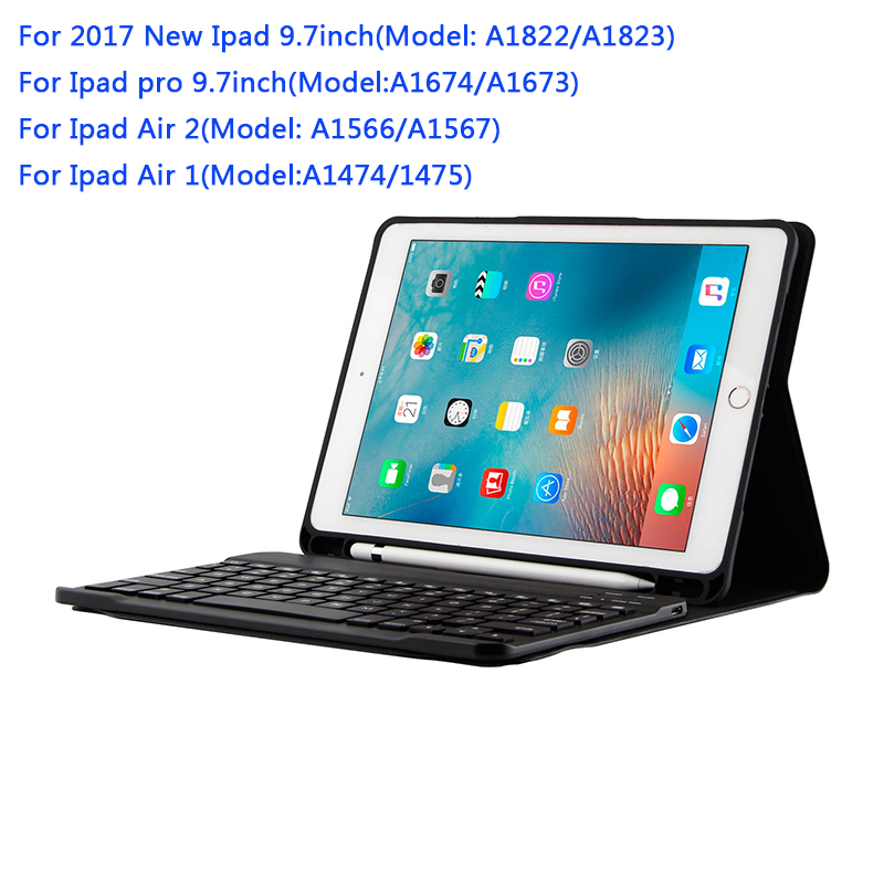 Removable Bluetooth Keyboard Case Cover For Apple iPad Air 1 2 Pro 9 7 5 6