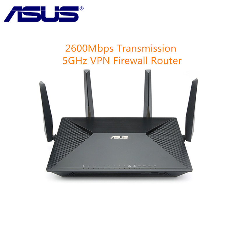ASUS BRT-AC828 2600Mbps WiFi Router Dual Band 2.4GHz 5GHz Wireless Gigabit Router 4 Ports LAN Support VPN Firewall Settings цена и фото