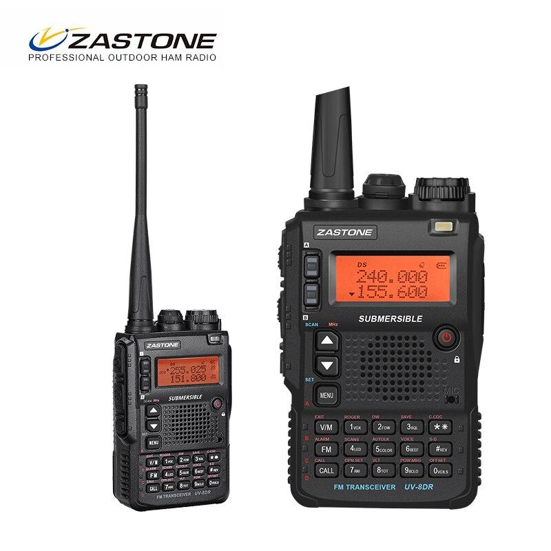 Zastone UV-8DR Mini Radio Talkie Walkie VHF 136-174 mhz UHF 400-520 mhz CB Ham Radio 128 canal Radio Bidirectionnelle Comunicador telsiz