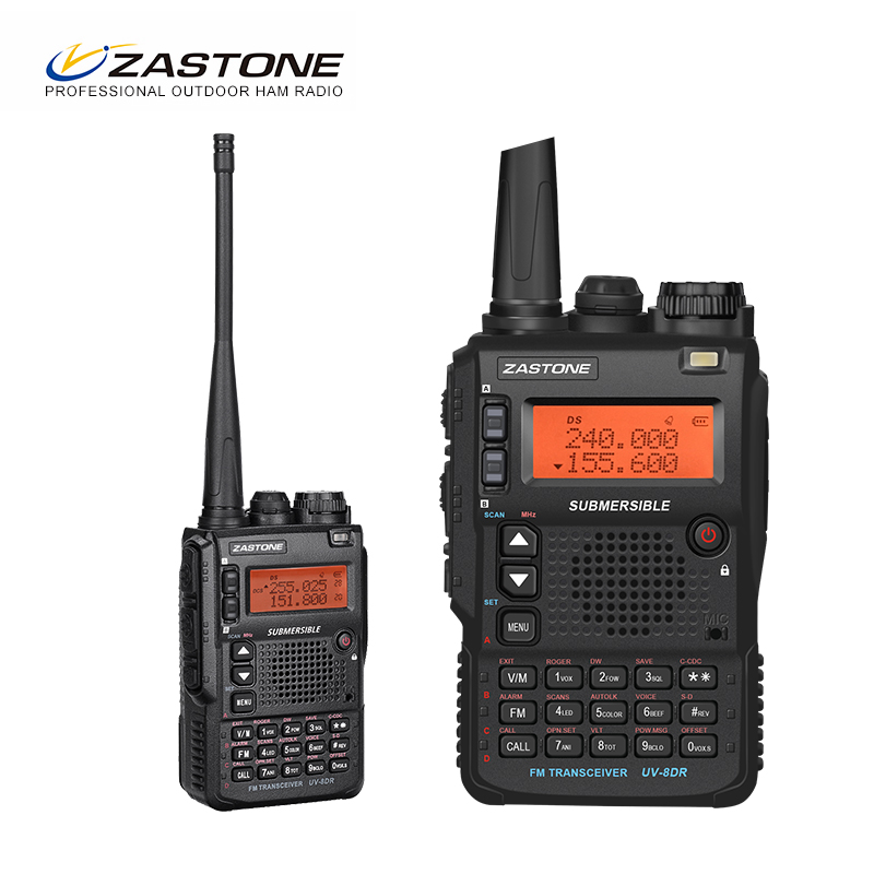 Zastone UV-8DR Mini Radio Walkie Talkie VHF 136-174MHz UHF 400-520MHz CB Ham Radio 128 Channel Two Way Radio Comunicador telsiz