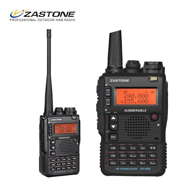 Zastone UV 8DR מיני רדיו VHF 136 174MHz UHF 400 520MHz CB רדיו חם 128 ערוץ שתי דרך רדיו Comunicador telsiz
