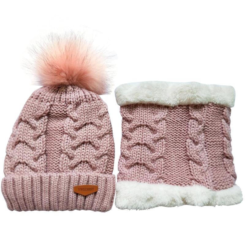 Winter Baby Hat set Plush Warm Baby Cap Scarf Infant Hat Baby Hats for Boys Girls Children Cap Scarf Collars Women Men Caps in Hats Caps from Mother Kids