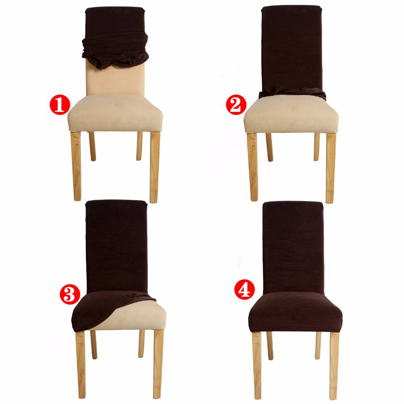 Jacquard Spandex Stretch Dining Chair Covers Machine Washable Restaurant  For Wedding Banquet Folding Hotel Black Chair Cover V20 In Chair Cover From  Home ...