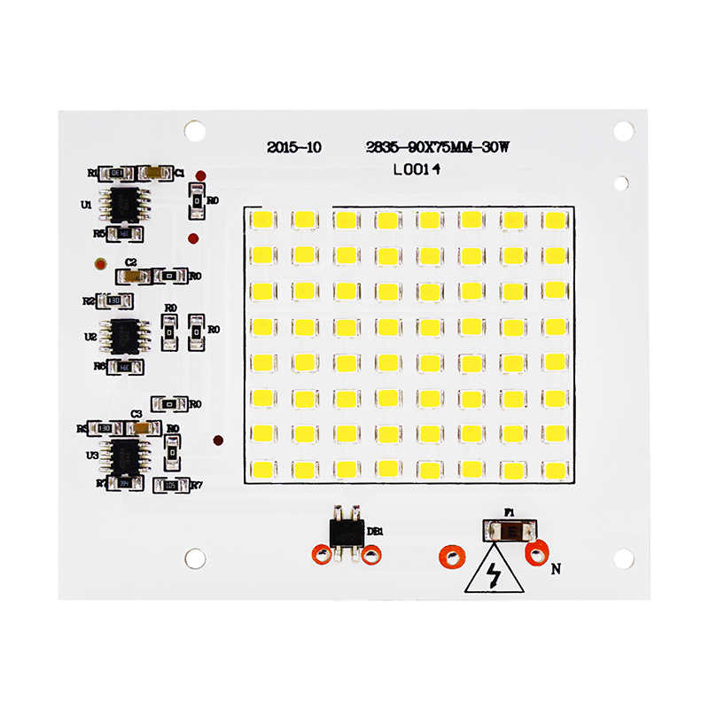 SMD LED Lamps Light Chip Smart IC AC 220-240V 50W 30W 20W 10W DIY For Outdoor FloodLight Spotlight Garden Cold White Warm White