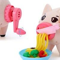 New DIY 3D Playdough Clay Dough Plasticine Ice Cream Machine Mould Play Kit DIY Toy Handmade Noodle Maker Kitchen Toy