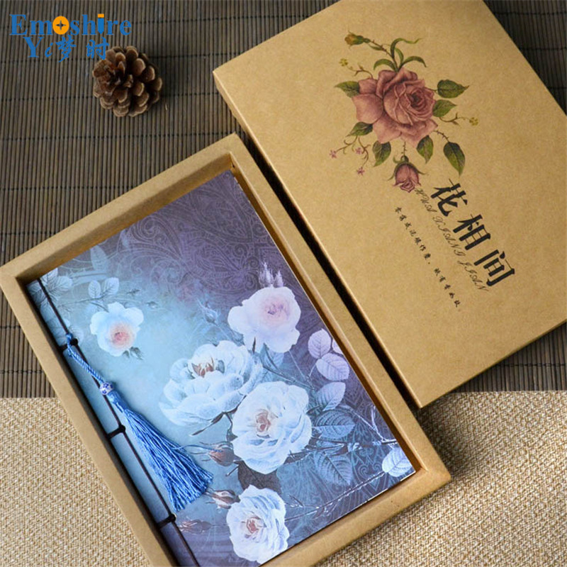 New Arrival Gift Boxed Creative Student Retro Notes Diary Notebook Notepad Sketch Book Soft Copybook for School Supplies N055 2017 ten light color hobo japanese light amount notes the books envelope contain within core general purpose student notebook