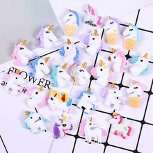 20 Piece/lot Cute Cartoon Mini Unicorn Model Small Statue Figurine Crafts Ornament Miniatures DIY