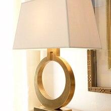Lámpara de mesa moderna de lujo de alta calidad, lámpara de mesa de comedor dorada para Villa, lámpara de mesa, lámpara de noche LED Retro nórdica para dormitorio