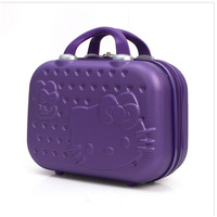 Hello Kitty Ms. Cosmetic Case/Business 14inch Love Travel Cosmetic Baggage/Girls Mini Suitcase/Student Portable Suitcase