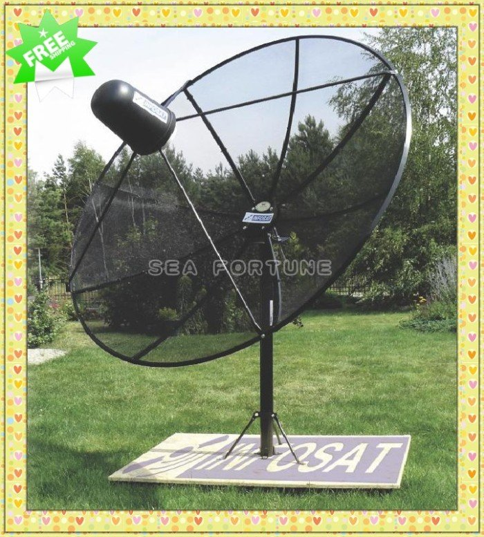 c band 180cm polar mount mesh satellite dish prime focus dish antenna withstand wind. Black Bedroom Furniture Sets. Home Design Ideas