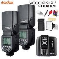 Godox V860II 2 * V860II-F вспышка Speedlight GN60 TTL HSS 1/8000S Li-Battery Camera Flash Speedlite + X1T-F для Fujifilm fuji