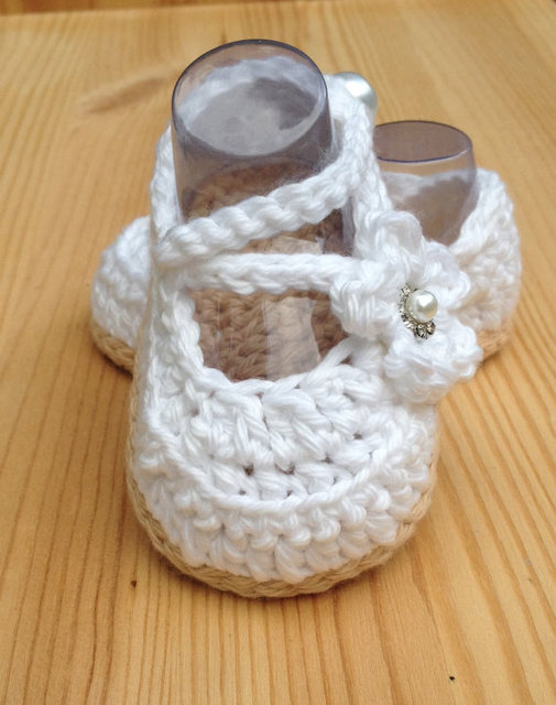 b0ef07853 Crochet Baby Shoes,White Baby Shoes,Handmade Baby Wedding Shoes,Baby  Ballerina White