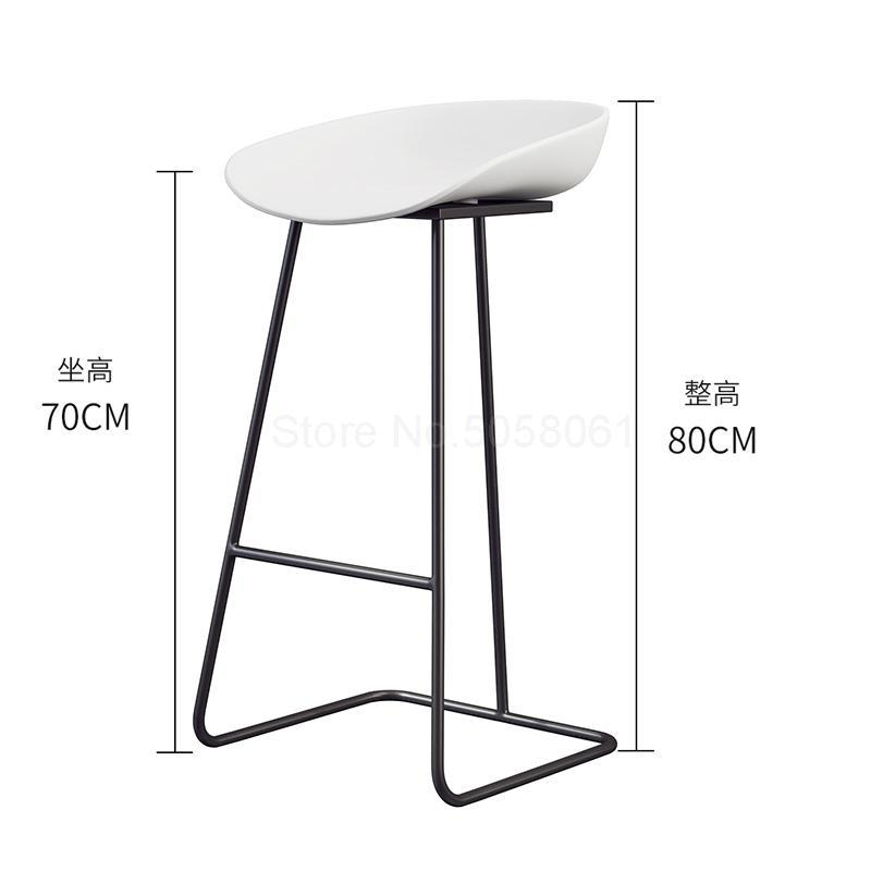 Скандинавский барный стул из кованого железа креативный простой барный стул кафе Золотой барный стул передний высокий стул - Цвет: ml8