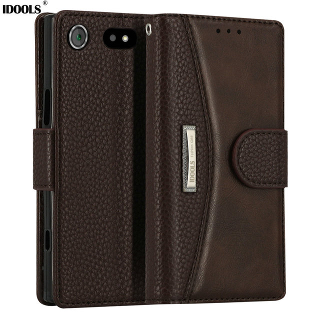 best loved 578b0 00af2 US $10.99 |IDOOLS for Sony Xperia XZ1 Compact Case 4.6 Inch Vintage PU  leather Trending Style Covers Mobile Phone Accessories Bags Cases-in Wallet  ...