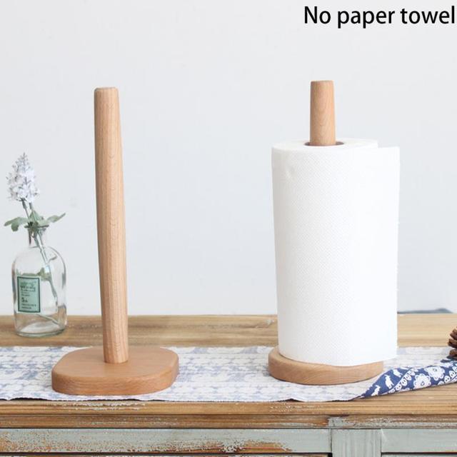 Cozinha De Madeira Rolo de Papel Toalha Titular Banheiro caixa de Tecido Suporte de Papel Higiênico Rack de Guardanapos Ferramenta Acessórios de Mesa Em Casa