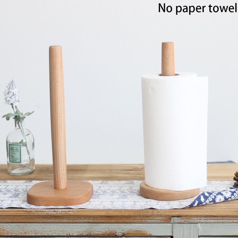 Kitchen Wooden Roll Paper Towel Holder Bathroom Tissue Toilet Paper Stand Napkins Rack Home Table Tool AccessoriesKitchen Wooden Roll Paper Towel Holder Bathroom Tissue Toilet Paper Stand Napkins Rack Home Table Tool Accessories