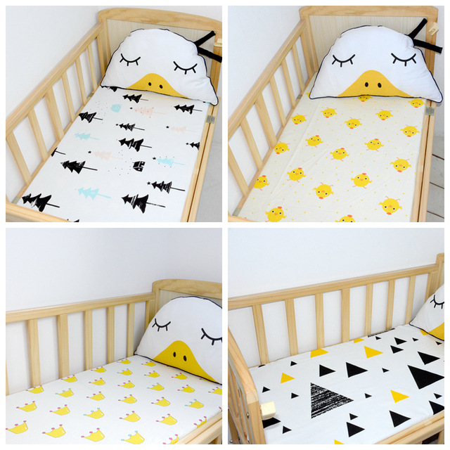 1PC Flat Sheet Baby Bed Sheets 100% Cotton Baby Bedding Blanket Print Color