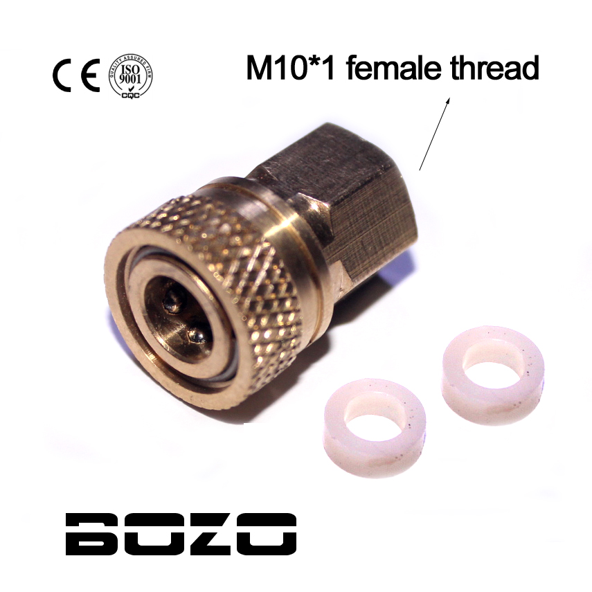 Paintball PCP Filling Charging Hose Quick Release Coupler Fitting 8 Mm Female Socket Quick Disconnect M10*1.0