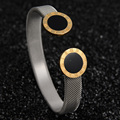 Top Quality Never Fade 316L Stainless Steel Watchband Bangle Roman Number Design Love Bangle For Gift