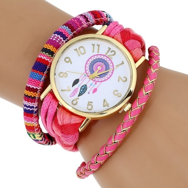 Gnova Platinum Ethnic Style atrapasueno watch Fashion Women Wristwatch peruvian