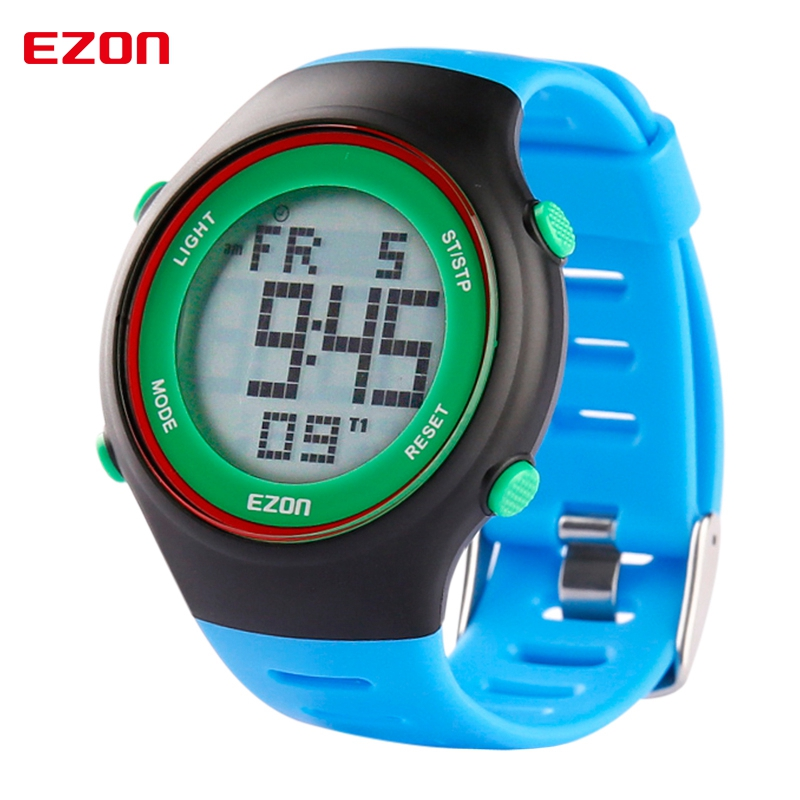 EZON Fashion Casual Digital Watches 30M Waterproof Digital Dual Time Outdoor Mens Women Unisex Sport Wristwatch L008B12