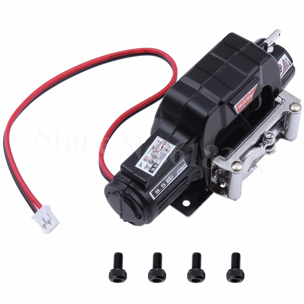 Metal Electric Automatic WARN 9.5cti Winch Motor for 1/10 RC Rock Crawler Traxxas TRX-4 Axial SCX10 RC4WD D90 D110 Tamiya CC01 injora 2pcs 90mm metal shock absorber for 1 10 rc crawler axial scx10 rc4wd d90 tamiya cc01