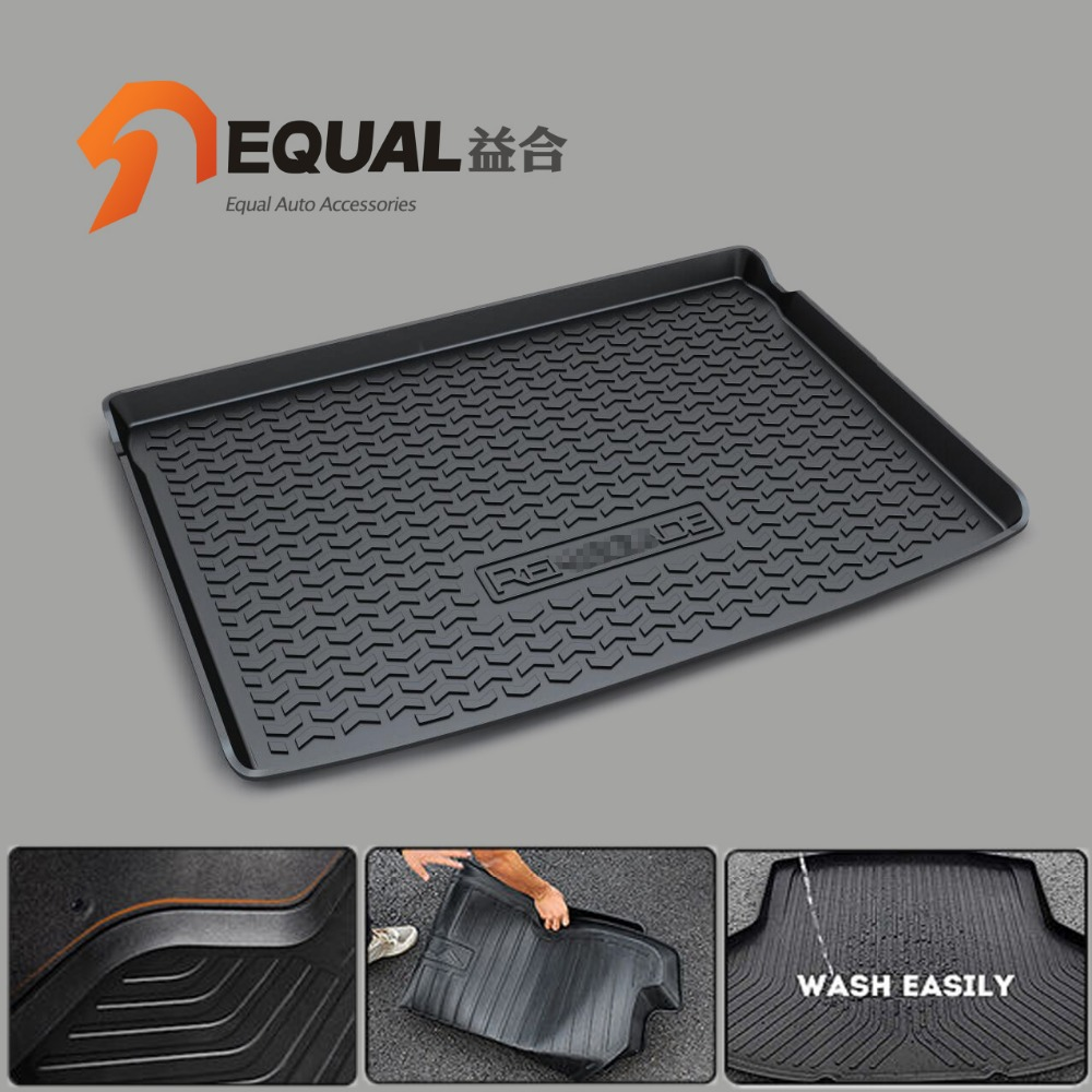 Cargo Liner Trunk Mats for JEEP renegade grand cherokee wrangler Cherokee BOOT LINER REAR TRUNK CARGO MATS TRAY CARPET car rear trunk security shield cargo cover for volkswagen vw tiguan 2016 2017 2018 high qualit black beige auto accessories