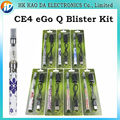 E Cigarette EGo Q Blister Kit ecigar ego Q battery CE4 electronic cigarette liquid Atomizer for electric cigarette ego Q kits