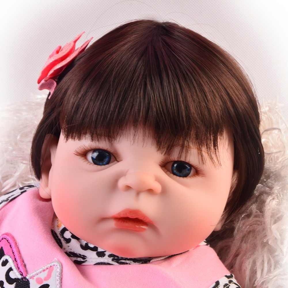 Милые 23 дюймовые куклы Reborn baby girl, силиконовые виниловые реалистичные куклы для детей 57 см, подарок на день рождения