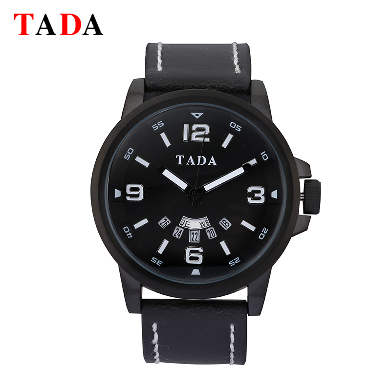 TADA Fashion Luxury Brand Men Waterproof Military Sports Watches Men's Quartz Analog Leather Wrist Watch relogio masculin portable mini grinding machine engraving pen electric drill kit