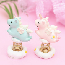Wobbling Cartoon Unicorn Figurine