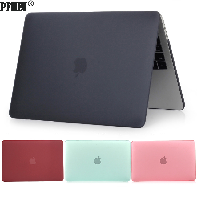Matte Case for Macbook Air 11 13 inch 12 Retina Pro 13 15 Protector Cover Shell For Macbook Pro Touch Bar 13 A1706 15 inch A1707 new leather sleeve protector bag stand cover for macbook air 13 pro retina 11 12 13 15 laptop case for macbook pro 13 touch bar