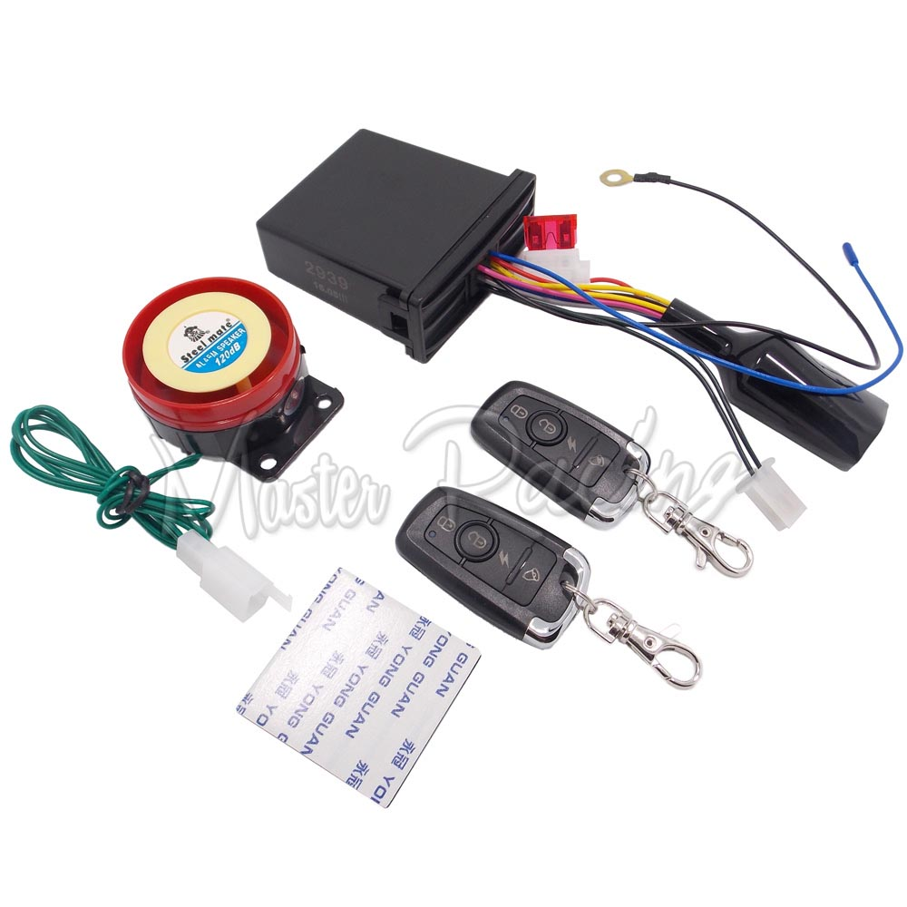 Motorcycle Remote Control Engine Start Antitheft Security Alarm