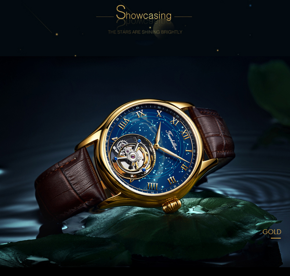 GUANQIN 100% Real Original Tourbillon watch top brand luxury Skeleton constellation waterproof Sapphire Relogio Masculino 18