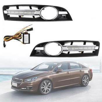 12V White Light Waterproof Universal 6000K LED Car Auto Daytime Running Traffic Lights Fog Lamp for Mass Old Maiteng