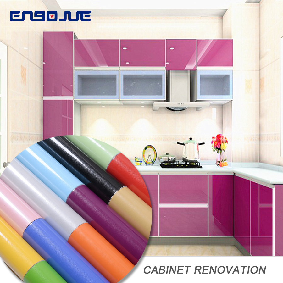 Furniture Refurbished Stickers Kitchen Oil Wall Sticker Home Wardrobe Murals Cabinet Table Waterproof Wallpaper Self Adhesive