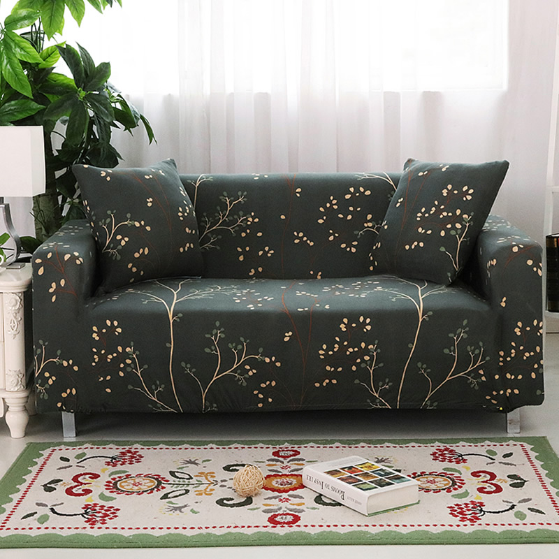 Universal stretch sofa cover Printing seat flower sofa