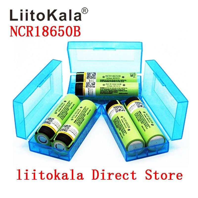 2019 Liitokala 18650 Original NCR18650B 3.7V 3400 Mah 18650 3400mah Rechargeable Lithium Battery+BOX