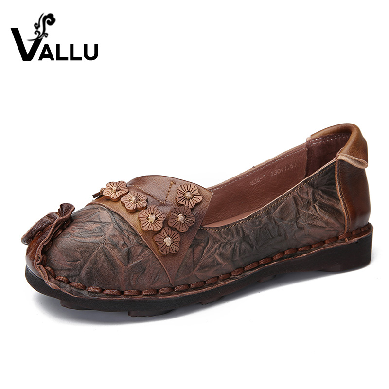 2018 VALLU Natural Real Leather Women Flats Handmade Sewing Shoes Women Loafers Comfortable Soft Driving Shoes сварочный инвертор elitech ис 200н