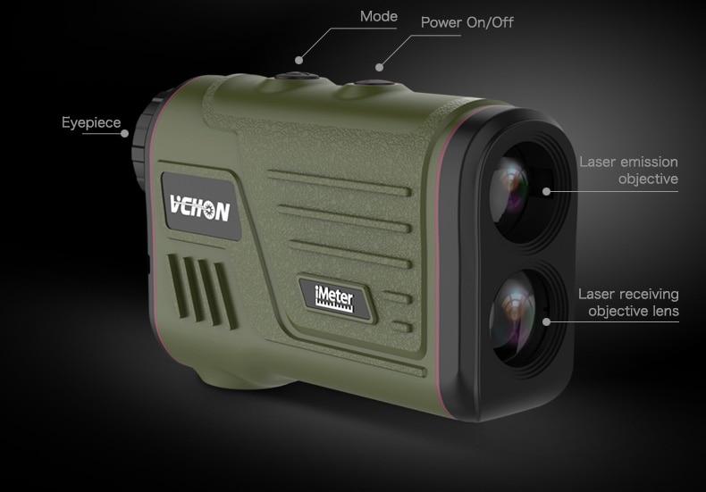 Entfernungsmesser Mit Winkelmessung : Vchon 600 mt 1200 multifunktions 6x laser entfernungsmesser