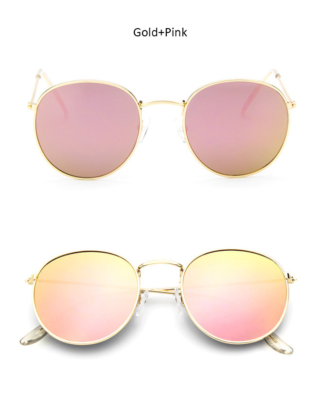 55ac3f936cf8f Luxury Round Sunglasses Women Brand Designer 2018 Retro Sunglass Driving  Sun Glasses For Women Lady Men Female Sunglass Mirror-in Sunglasses from  Apparel ...