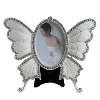 3 Inch 5 Inch Diamond Butterfly Metal Frames Wedding Goods Frame Home Furnishing Ornaments Table X31