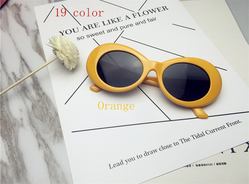 HTB1xF4QQXXXXXajaFXXq6xXFXXXE - Kurt Cobain Star Style Sunglasses Men Women Retro Sun Glasses 16 Colors PTC 200