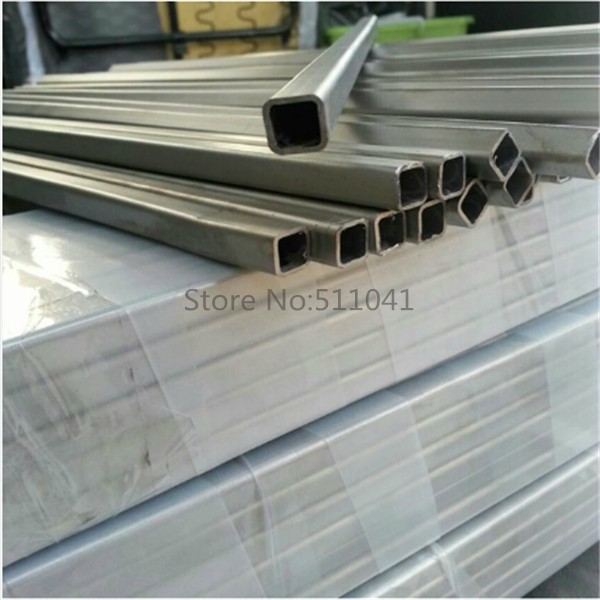 ASTM B338 grade2 titanium square tube for sea water 15mm*15mm *500mm length, 3pcs wholesale цена
