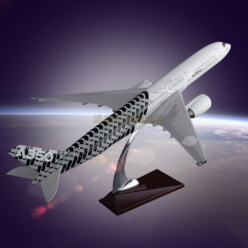 47cm Static Model of Model Aircraft Airbus A350 Carbon Fiber Resin Home Decoration Model Toy 1 400 jinair 777 200er hogan korea kim aircraft model