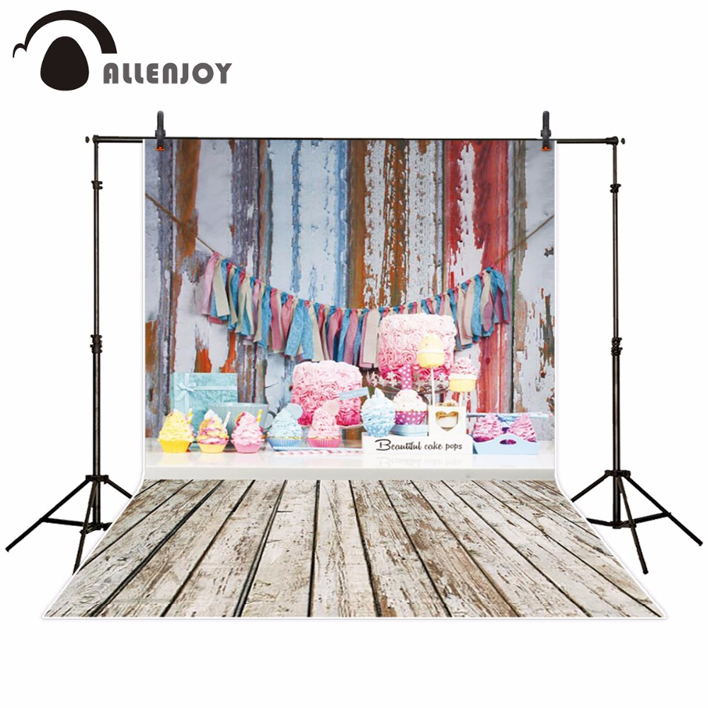 Allenjoy backdrop for photographic studio cake colorful cute Birthday background original design photocall free shipping