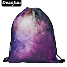 Deanfun 2016 womens daypacks printing bag for beach mochila feminina harajuku drawstring bag mens backpacks galaxy pink s69